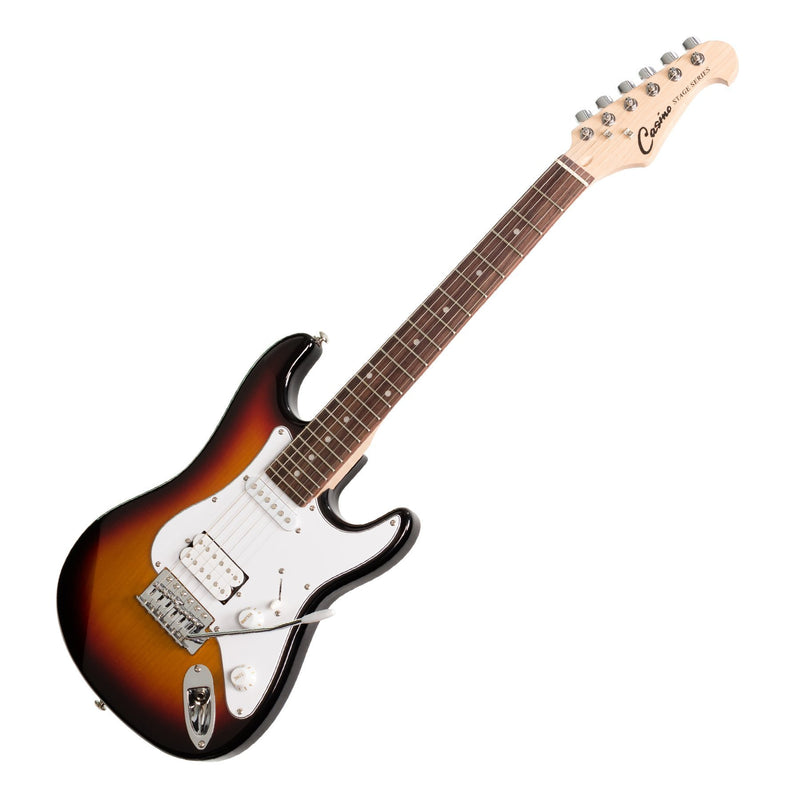 CJD-STMINI-TSB-Casino ST-Style 3/4 Size Electric Guitar Set (Sunburst)-Living Music