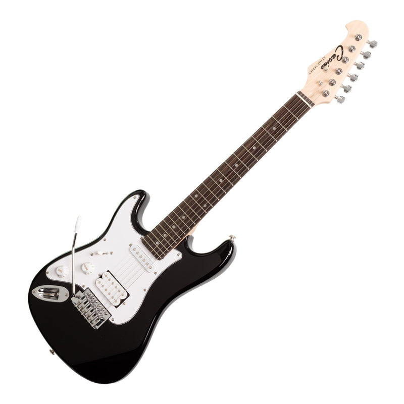 CP-STMINILH-BLK-Casino ST-Style 3/4 Size Left Handed Electric Guitar and 10 Watt Amplifier Pack (Black)-Living Music