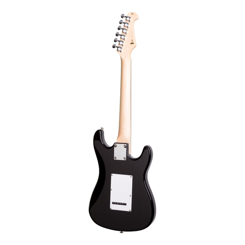 CJD-STMINILH-BLK-Casino ST-Style 3/4 Size Left Handed Electric Guitar Set (Black)-Living Music