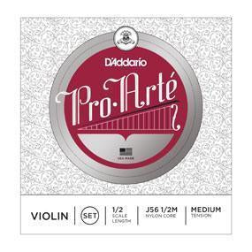 J56 1/2M-D'Aaddario ProArte 1/2 Size Violin String Set (Medium Tension)-Living Music