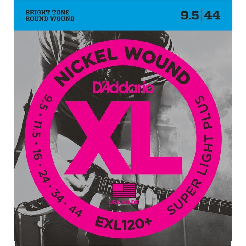 EXL120+-D'Addario EXL120+ Super Light Plus Electric Guitar Strings (.009.5 - .044)-Living Music