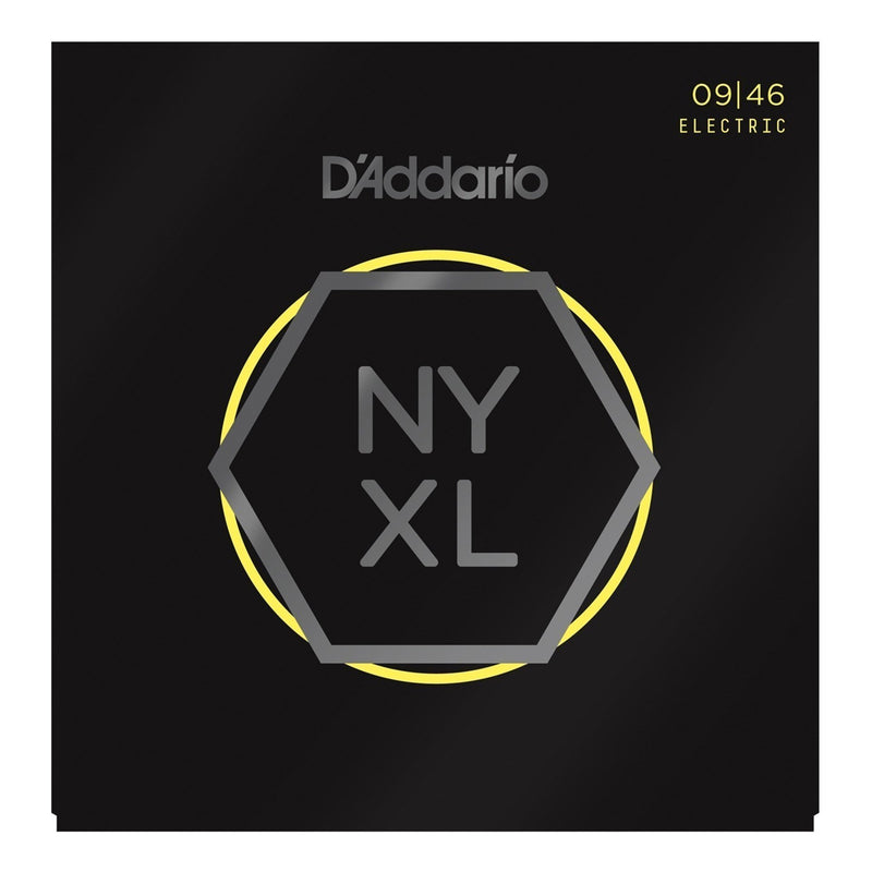 NYXL0946-D'Addario NYXL0946 Super Light Top/Regular Bottom Electric Guitar Strings (9-46)-Living Music