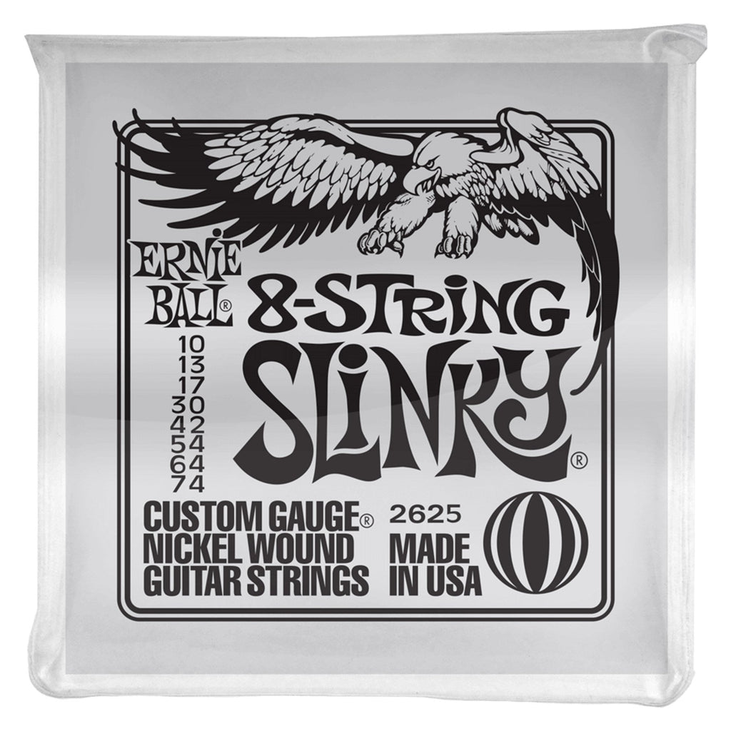 2625-Ernie Ball 2625 Slinky 8-String Nickel Wound Electric Guitar String (10-74)-Living Music