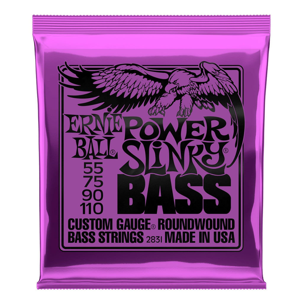 2831-Ernie Ball 2831 Power Slinky Nickel Wound Electric Bass Strings (55-110)-Living Music