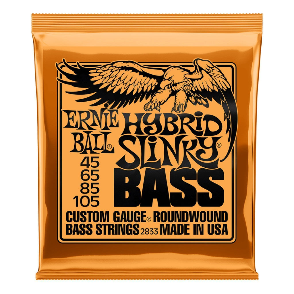 2833-Ernie Ball 2833 Hybrid Slinky Nickel Wound Bass Guitar Strings (45-105)-Living Music