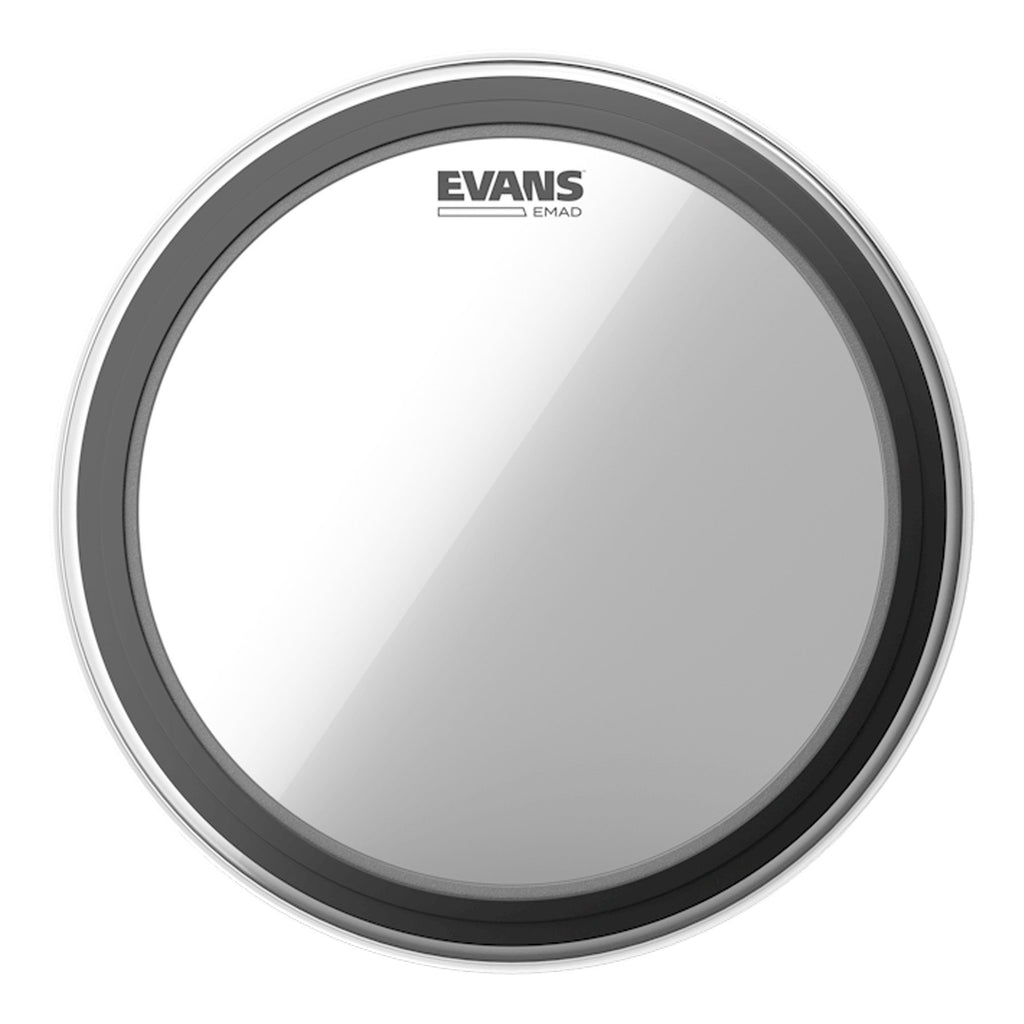"BD22EMAD-Evans EMAD Single Ply Clear Bass Drum Head 22""-Living Music"