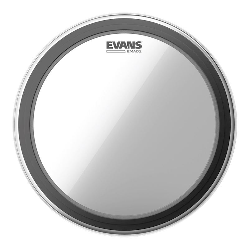 "BD22EMAD2-Evans 'EMAD2' 2-Ply Clear Bass Drum Head (22"")-Living Music"