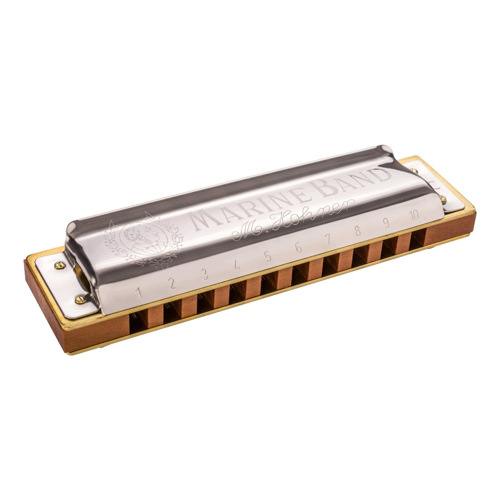 15-M1896126X-Hohner 'Marine Band 1896' Diatonic 10 Hole Harmonica (Key of B)-Living Music