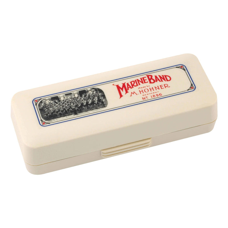 15-M1896036X-Hohner Marine Band 1896 Diatonic 10 Hole Harmonica (Key of D)-Living Music