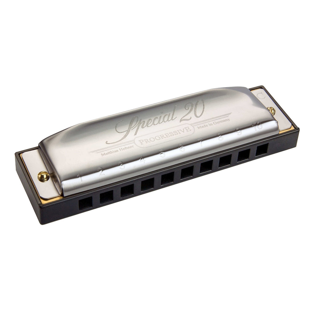 15-M560126X-Hohner 'Progressive Special 20' Diatonic 10 Hole Harmonica (Key of B)-Living Music