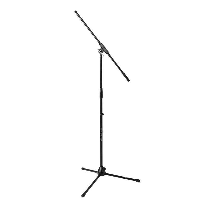 JS-MCFB100-JamStands Fixed-Length Tripod Boom Microphone Stand (Black)-Living Music