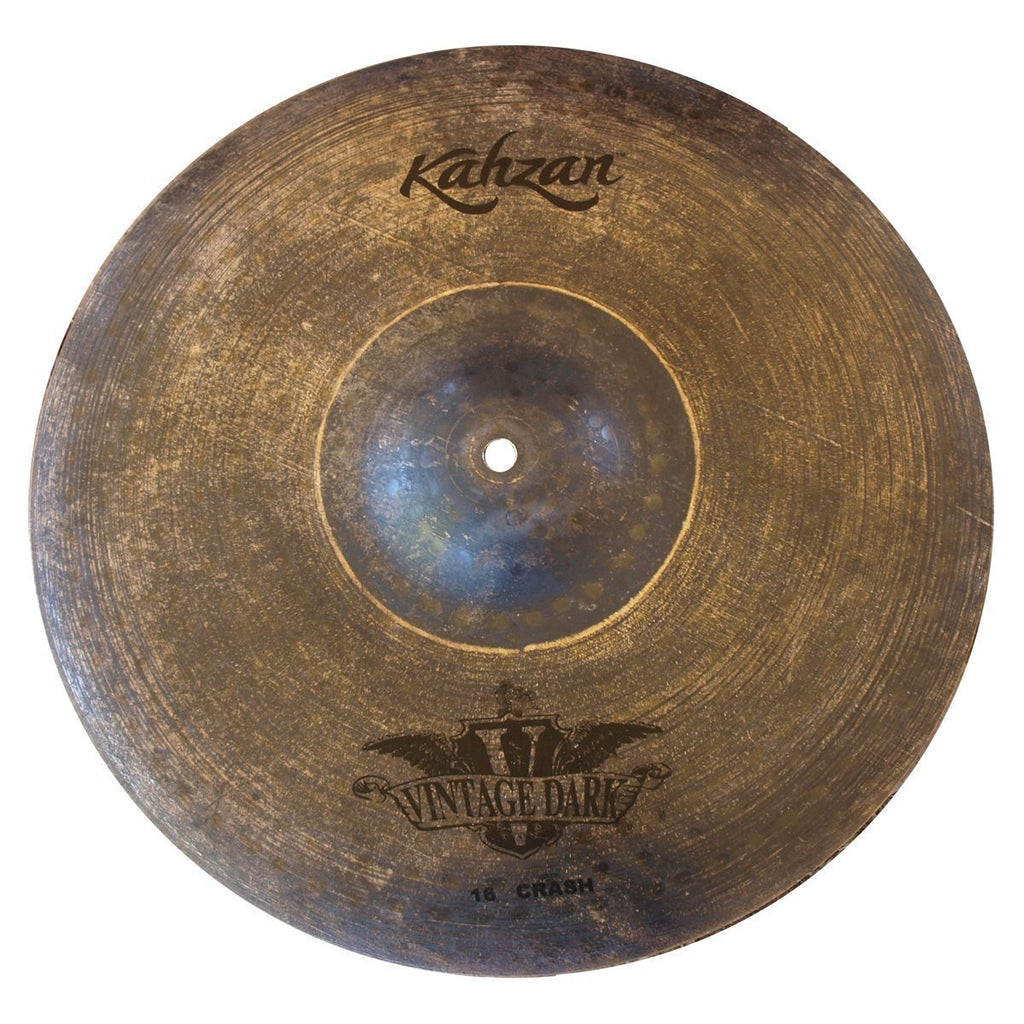 "KC-VIND-16C-Kahzan 'Vintage Dark Series' Crash Cymbal (16"")-Living Music"