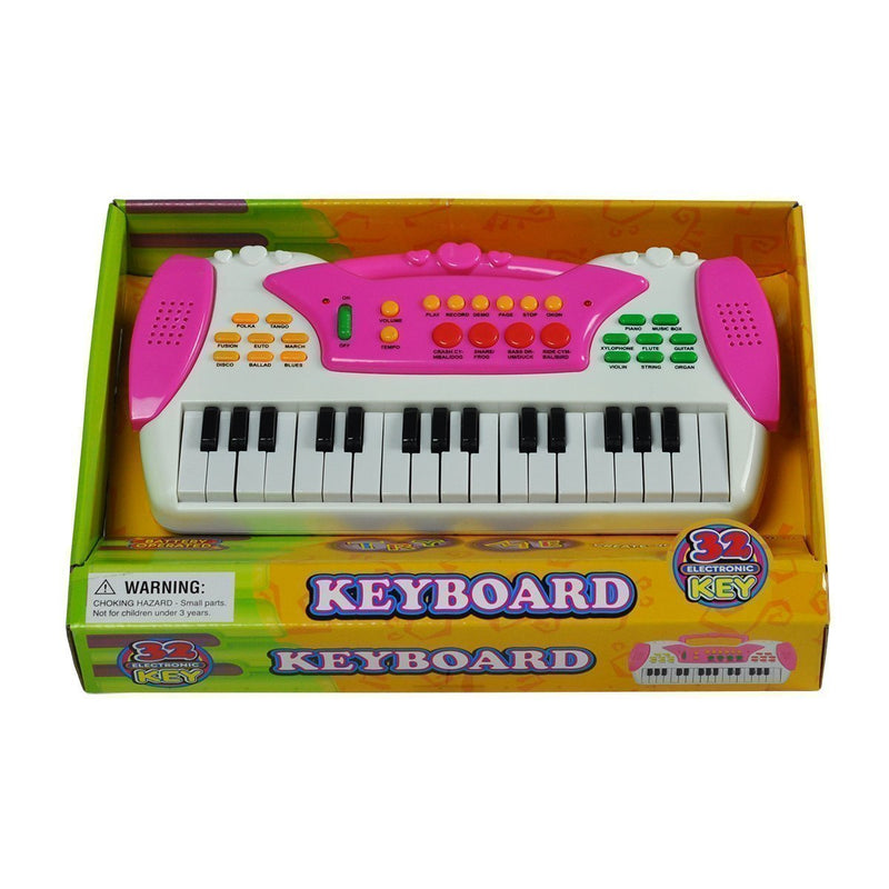 KK-316B-PNK-Kool Keys 'Rock 'N' Board' Children's Keyboard (Small)-Living Music