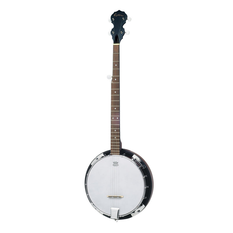 MBJ-15L-NST-Martinez 5-String Left Handed Mahogany Banjo (Natural Satin)-Living Music