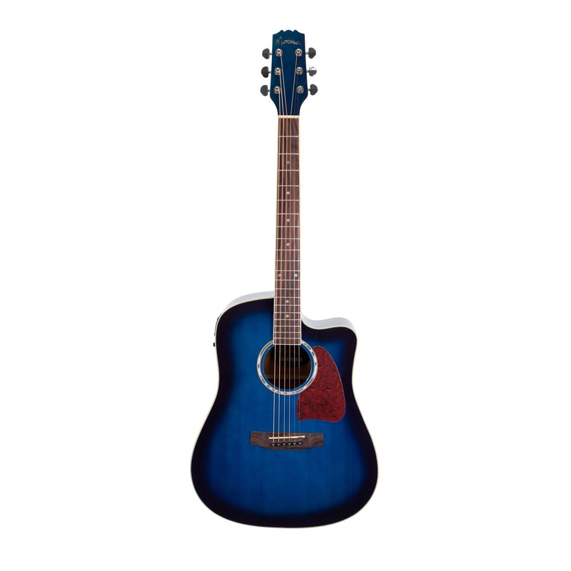 MDC-31-BLS-Martinez Acoustic-Electric Dreadnought Cutaway Guitar (Blue)-Living Music