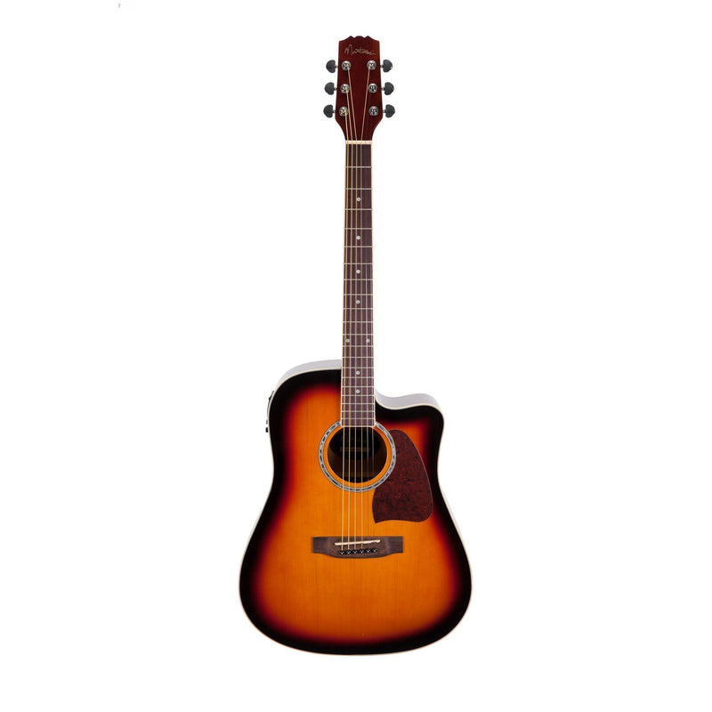MDC-31-TSB-Martinez Acoustic-Electric Dreadnought Cutaway Guitar (Tobacco Sunburst)-Living Music