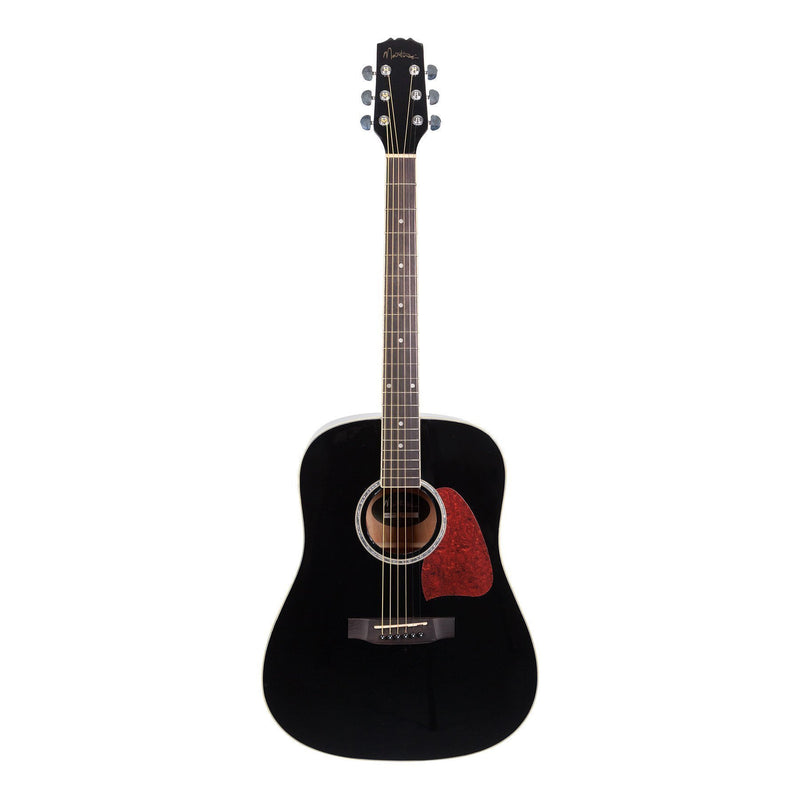 MD-31-BLK-Martinez Beginner Acoustic Dreadnought Guitar (Black)-Living Music
