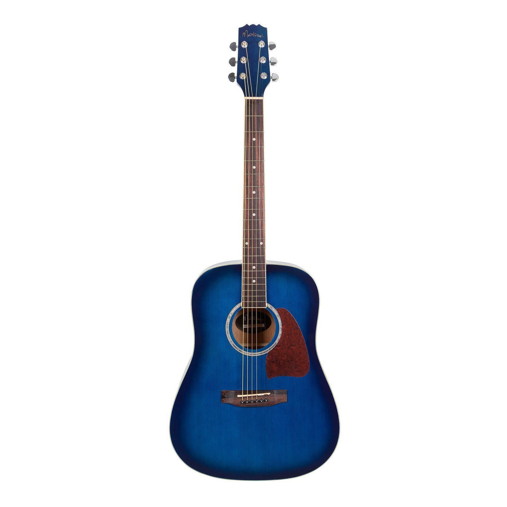 MD-31-BLS-Martinez Beginner Acoustic Dreadnought Guitar (Blue)-Living Music