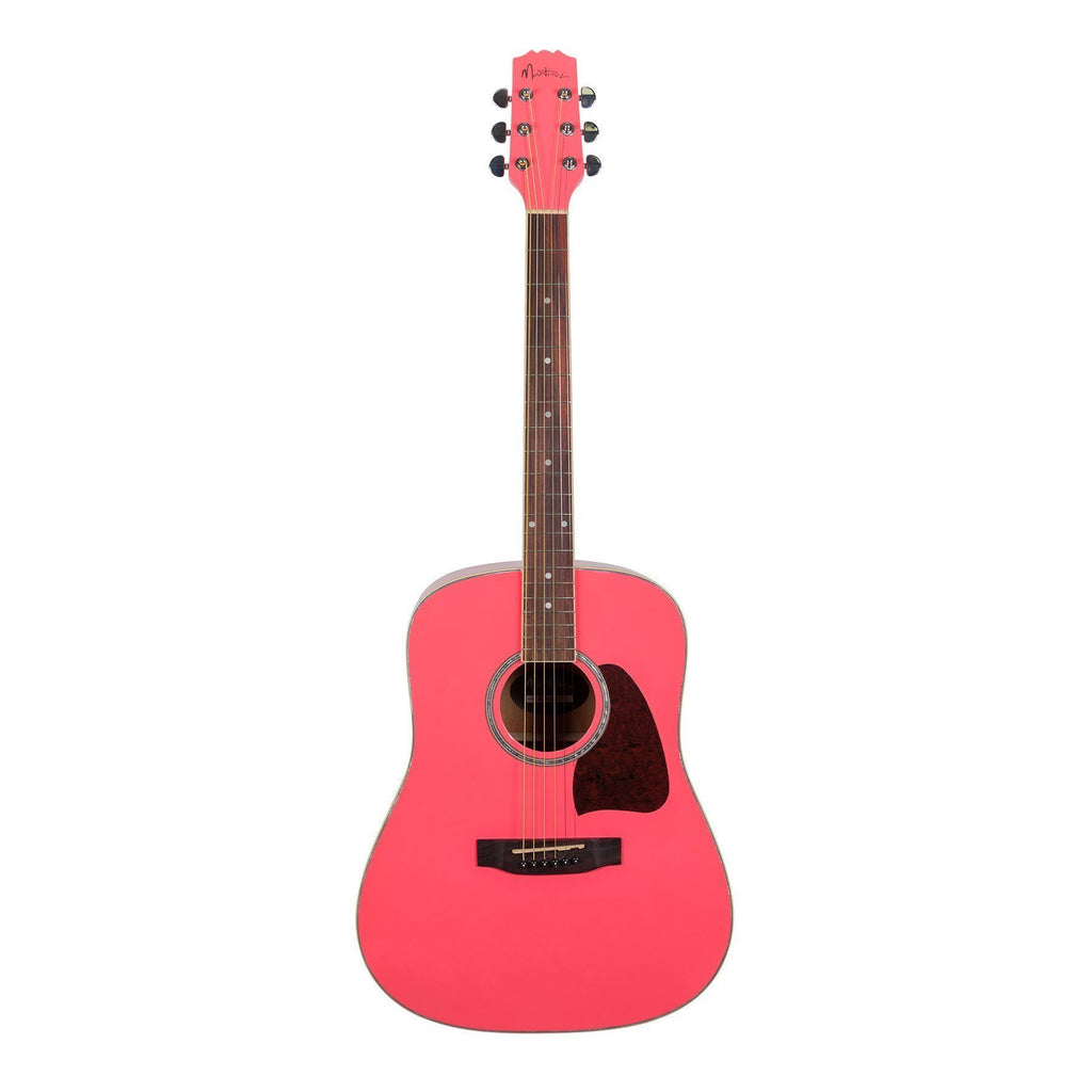 MD-31-HPK-Martinez Beginner Acoustic Dreadnought Guitar (Hot Pink)-Living Music