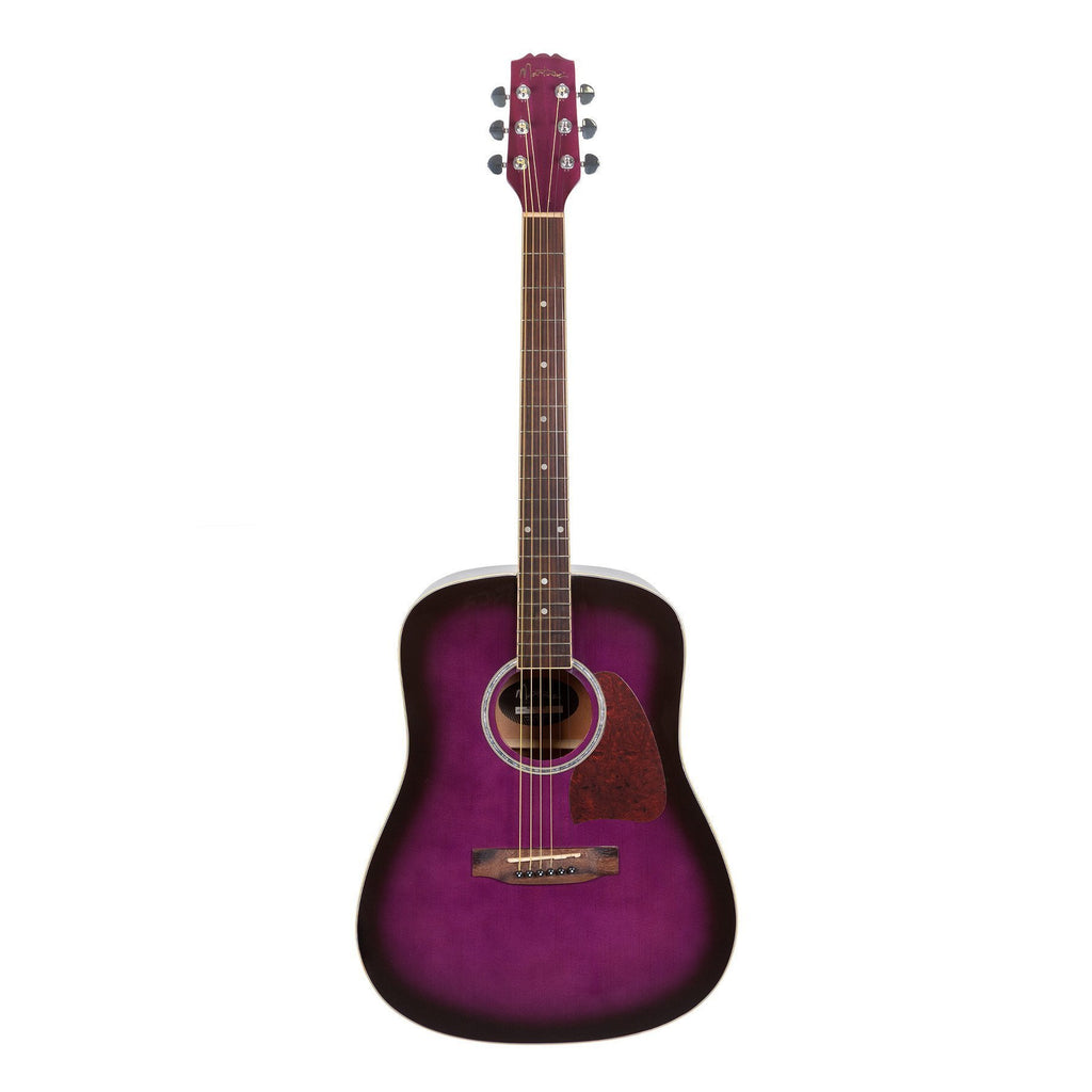 MD-31-PSB-Martinez Beginner Acoustic Dreadnought Guitar (Purpleburst)-Living Music