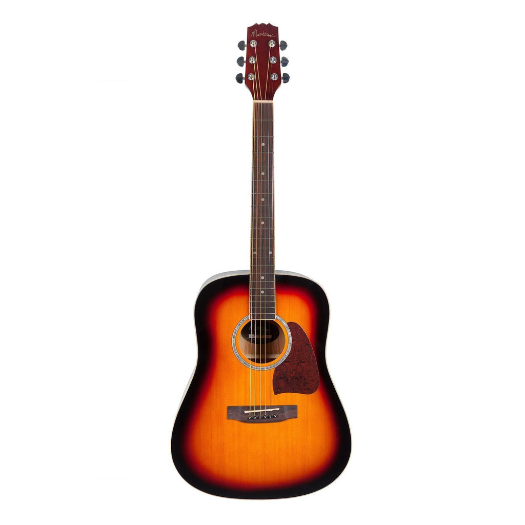 MD-31-TSB-Martinez Beginner Acoustic Dreadnought Guitar (Tobacco Sunburst)-Living Music