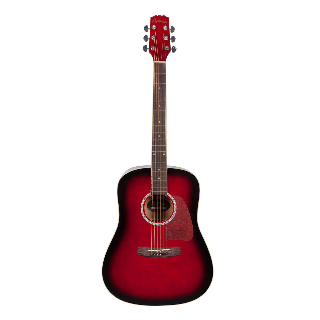 MD-31-TWR-Martinez Beginner Acoustic Dreadnought Guitar (Wine Red)-Living Music