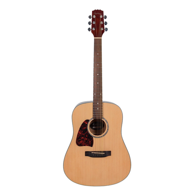 MD-31L-NGL-Martinez Beginner Left Handed Acoustic Dreadnought Guitar (Natural Gloss)-Living Music