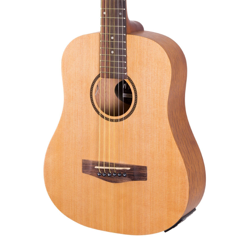 BUSKER-BT1M-NST-Martinez 'Busker' Acoustic-Electric Babe Traveller Guitar (Natural Satin)-Living Music