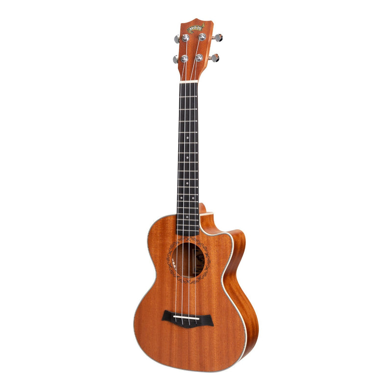 MTU-05-NA-Mojo 'Traditional Series' All Mahogany Cutaway Tenor Ukulele with Gig Bag (Natural Satin)-Living Music