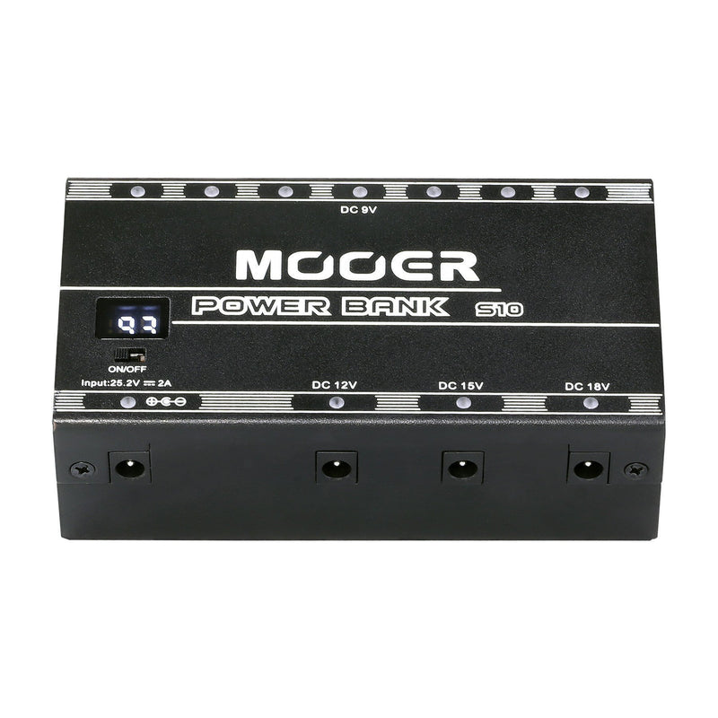 MEP-PBS10-Mooer 'Power Bank S10' 10-Port Rechargeable Battery Effects Pedal Power Supply-Living Music