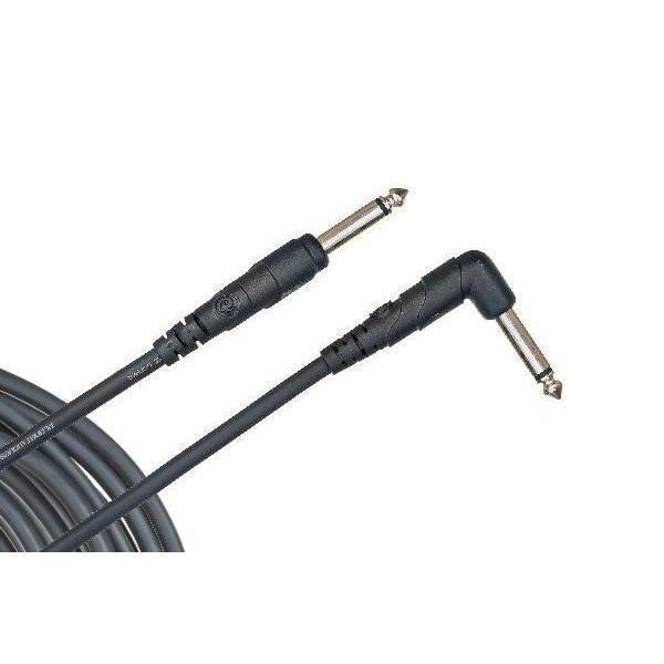 "PW-CGTRA-10-Planet Waves 'Classic Series' 1/4"" Straight to Right Angle Jack Instrument Cable (10ft)-Living Music"