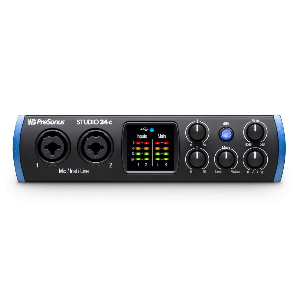 PRE-STUDIO-24C-PreSonus 'Studio 24c' 2-Channel USB Audio Interface with Studio One Artist-Living Music