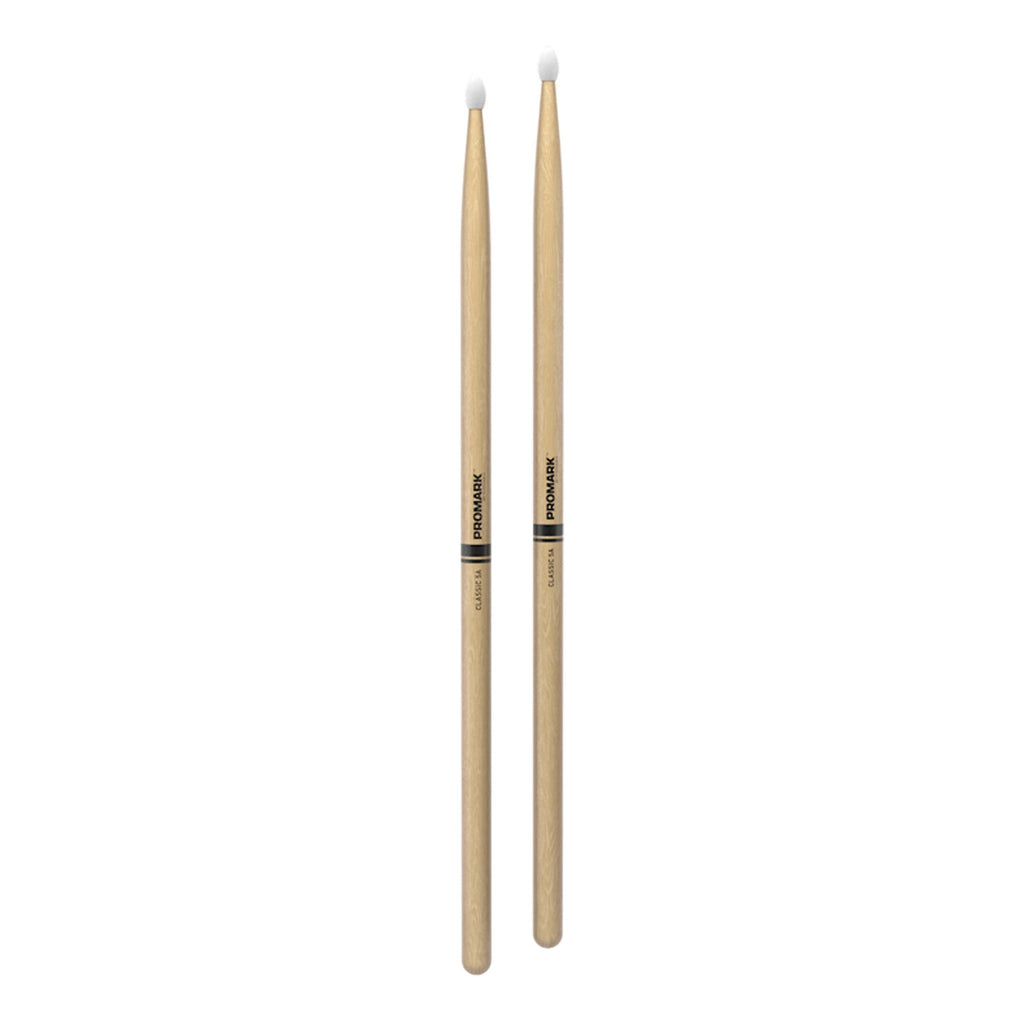 TX5AN-Promark Classic 5A Hickory Nylon Tip Drumsticks-Living Music