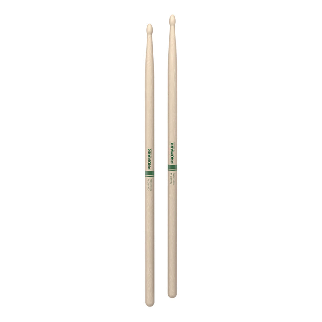 TXR5AW-Promark Classic 5A Natural Hickory Wood Tip Drumsticks-Living Music