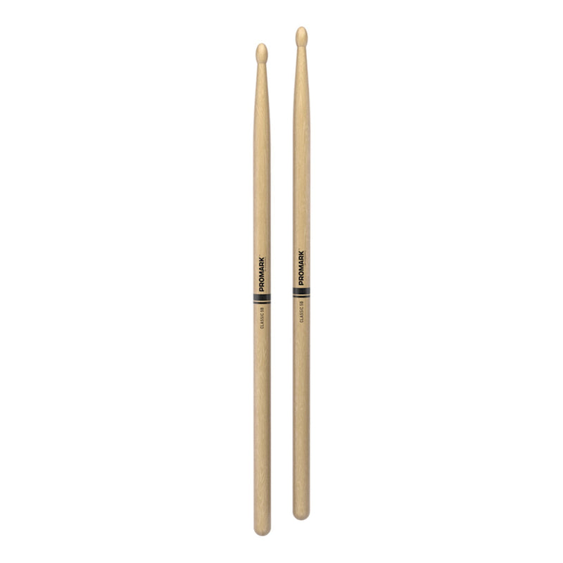 TX5BW-Promark Classic 5B Hickory Wood Tip Drumsticks-Living Music