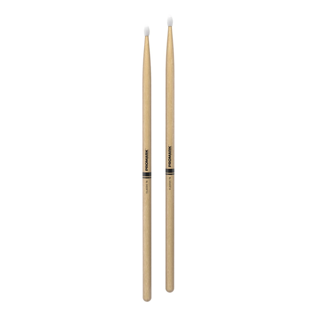 TX7AN-Promark Classic 7A Hickory Nylon Tip Drumsticks-Living Music