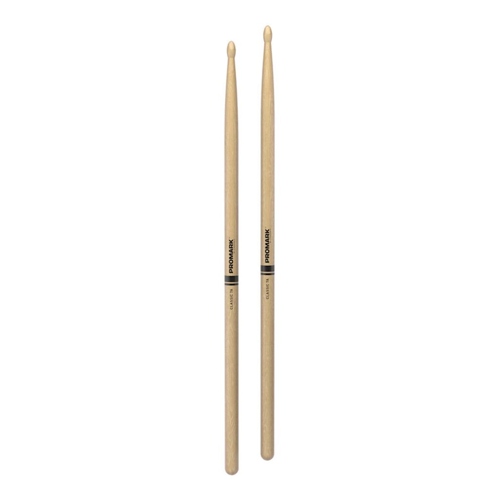 TX7AW-Promark Classic 7A Hickory Wood Tip Drumsticks-Living Music