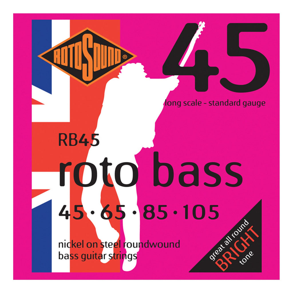RB45-Rotosound RB45 Rotobass Standard Nickel on Steel Bass Guitar Strings (45-105)-Living Music