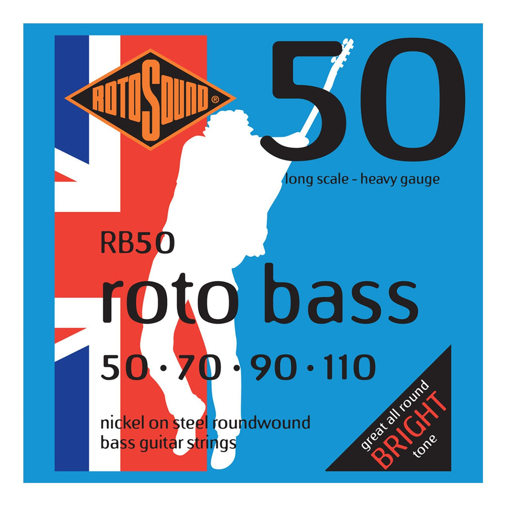 RB50-Rotosound RB50 Rotobass Heavy Nickel on Steel Bass Guitar Strings (50-110)-Living Music