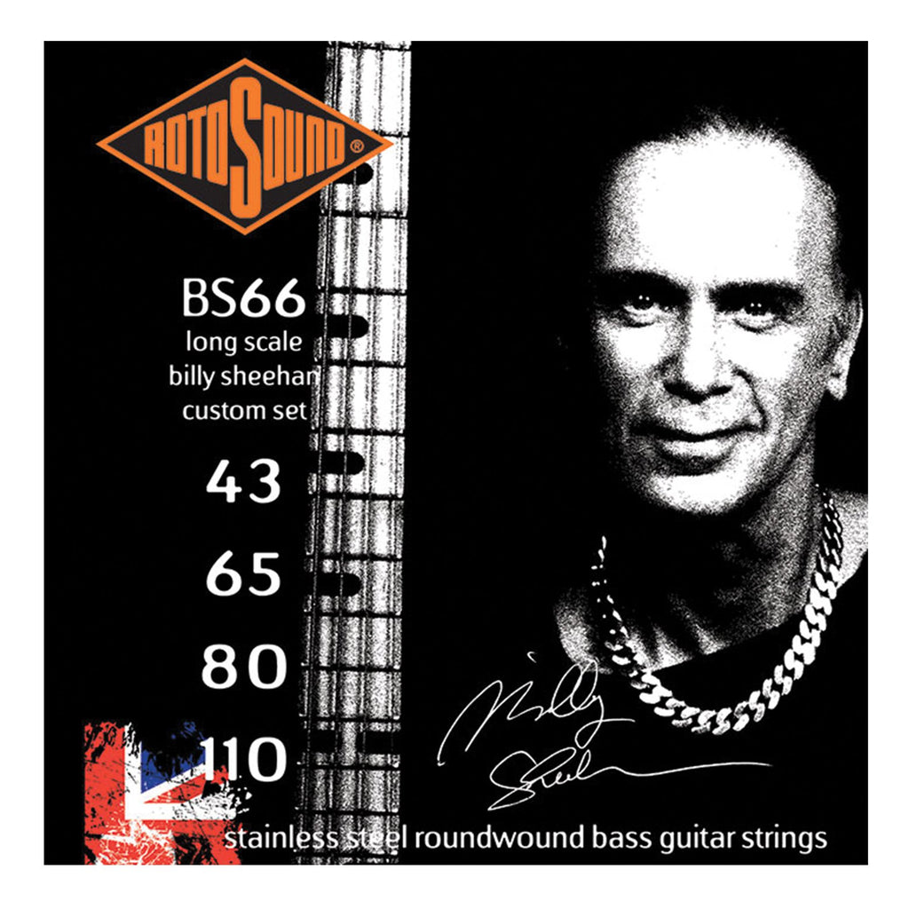 RBS66-Rotosound RBS66 Billy Sheehan Custom Stainless Steel Bass Guitar Strings (43-110)-Living Music