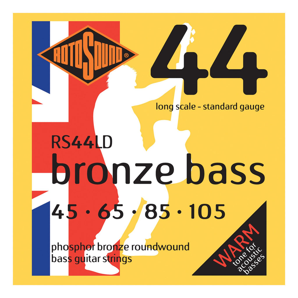RS44LD-Rotosound RS44LD Phosphor Bronze Acoustic Bass Guitar Strings (45-105)-Living Music