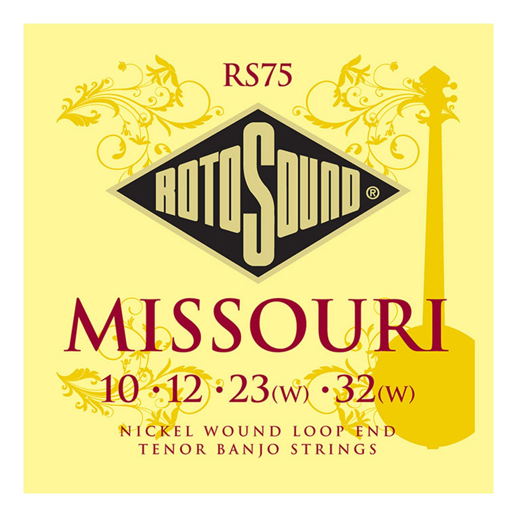 RS75-Rotosound RS75 Missouri Nickel Wound Loop End 4 String Tenor Banjo Strings (10-32)-Living Music