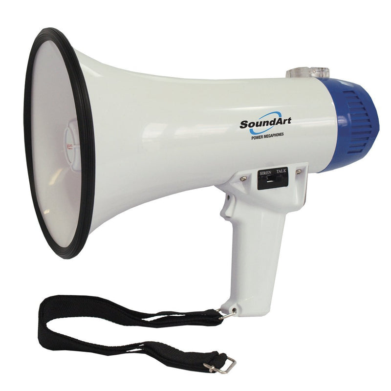 SLH-610-BLU-SoundArt 10 Watt Portable Hand-Held Megaphone (Blue)-Living Music