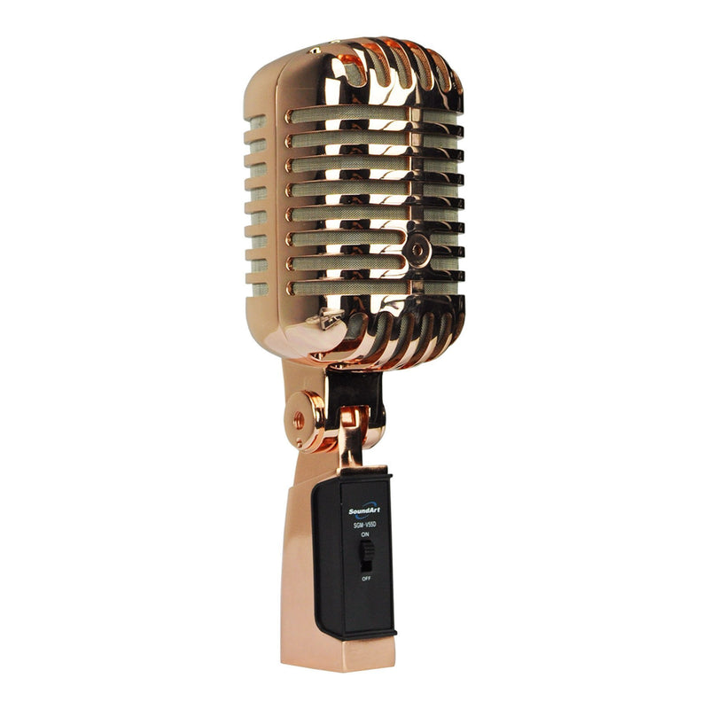 SGM-V55D-AC-SoundArt 'Vintage' Dynamic Microphone with Deluxe Carry Case (Antique Copper)-Living Music