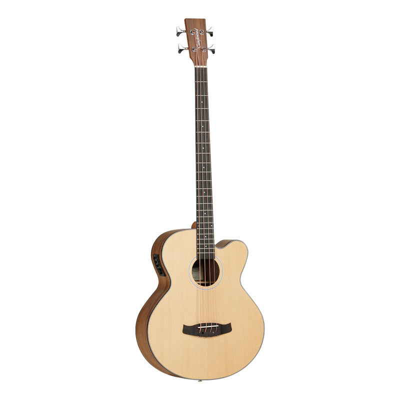 TDBTABBW-Tanglewood Discovery Exotic Spruce Top Acoustic-Electric Bass Guitar (Natural Satin)-Living Music