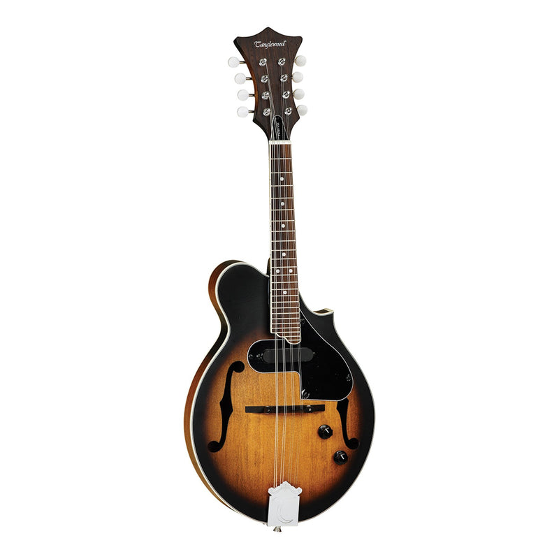 TWMFVSE-Tanglewood Scroll Spruce Top Electric Mandolin (Vintage Sunburst Satin)-Living Music