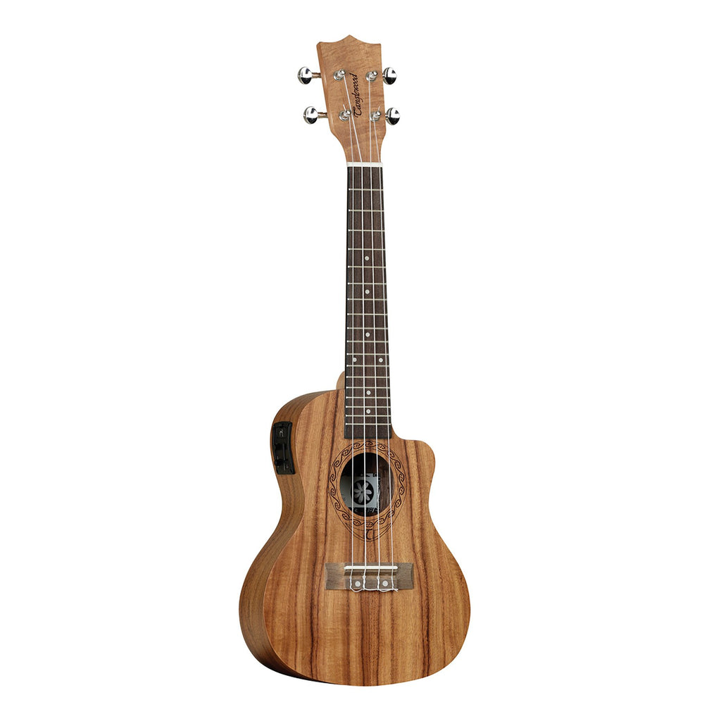 TUT16E-Tanglewood 'Tiare' Koa Electric Cutaway Concert Ukulele with Gig Bag (Natural Satin)-Living Music