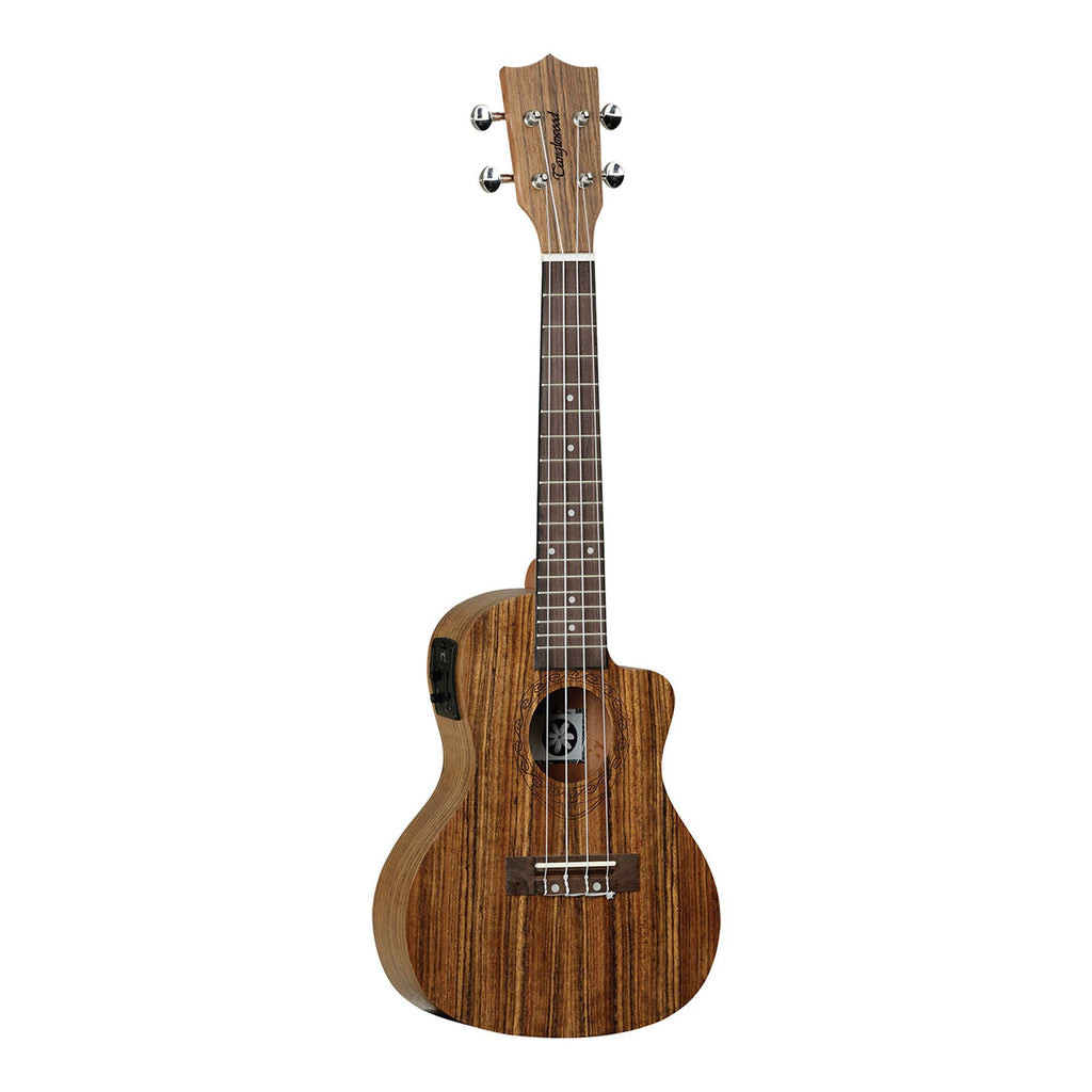 TUT12E-Tanglewood 'Tiare' Ovangkol Electric Cutaway Concert Ukulele with Gig Bag (Natural Satin)-Living Music