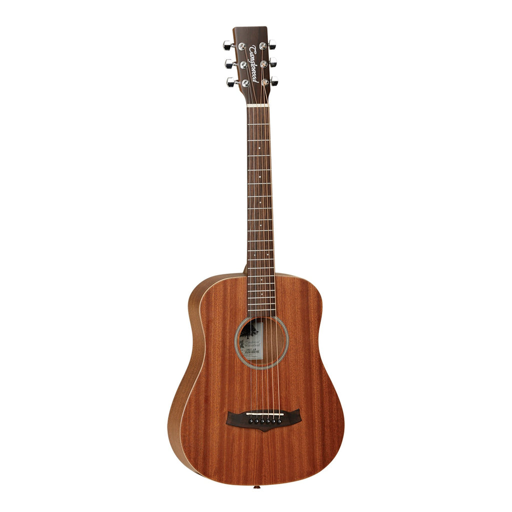 TW2TLH-Tanglewood 'Winterleaf' Left Handed Mahogany Acoustic Traveller Guitar with Gig Bag (Natural Satin)-Living Music