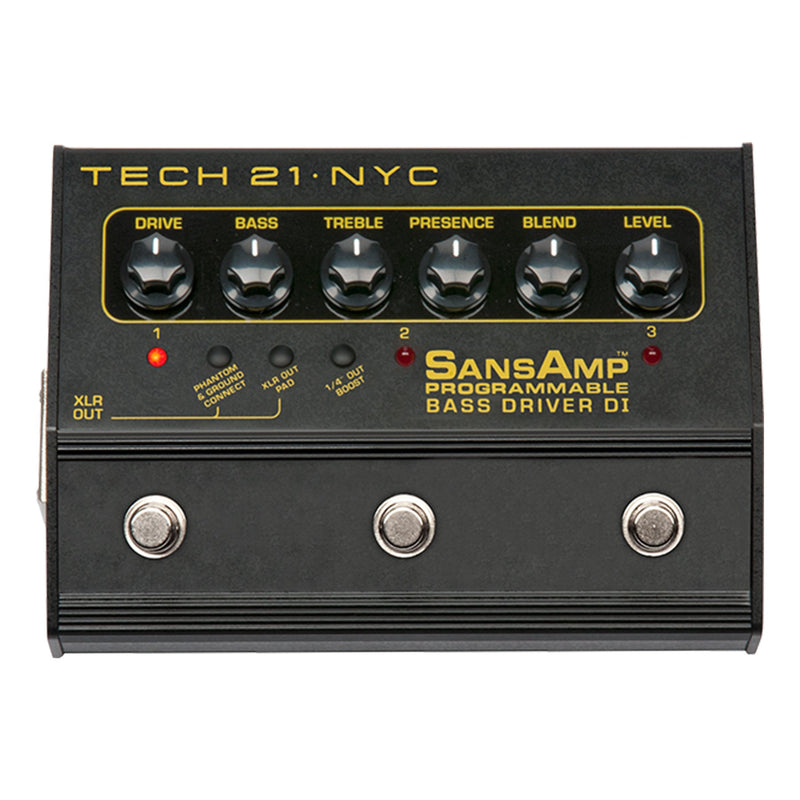 BASSDRV-P-Tech 21 SansAmp Bass Driver Programmable DI Pedal-Living Music